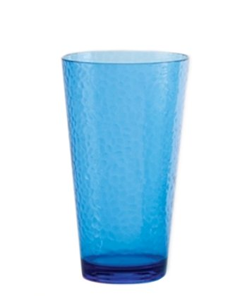 Cobalt Blue Hammered 24-Oz. Iced Tea Glass - Set of Six