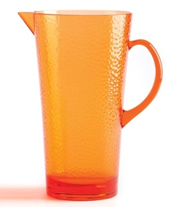 Orange Hammered 2.5-Qt. Pitcher