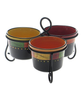 Caliente Three-Section Serving Set