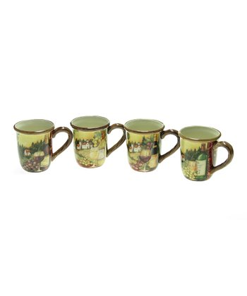 Merlot Sunset 16-Oz. Mug Set