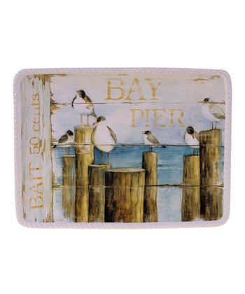 Beach Cottage Rectangle 15.75'' Platter