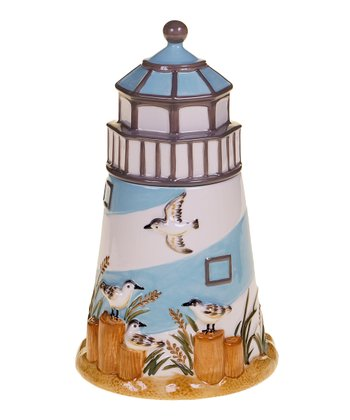 Beach Cottage 3-D Cookie Jar