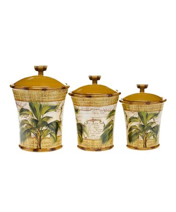 Las Palmas Three-Piece Canister Set