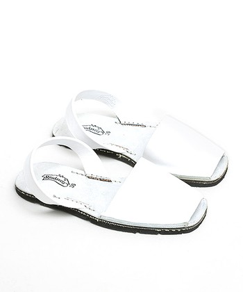 White Leather Slingback Sandal - Women