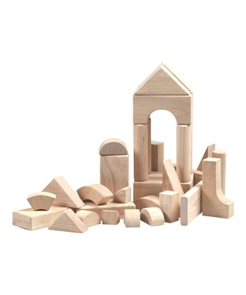 34-Piece Hardwood Block Set