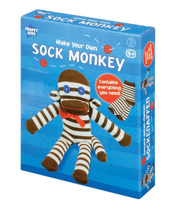 Make Your Own Sock Monkey Kit - Set of Two
