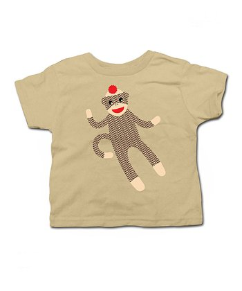 Khaki Sock Monkey Tee - Toddler & Kids