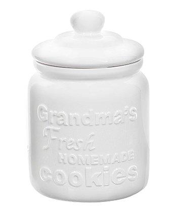 GANZ White 'Grandma's Cookies' Cookie Jar