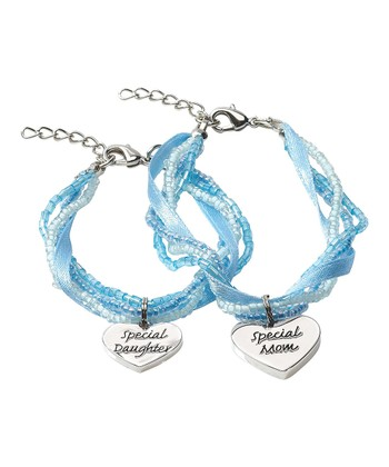 Blue 'Special Daughter Special Mom' Bracelet Set