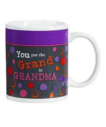 GANZ Purple 'Grand in Grandma' Mug