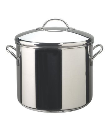 12-Qt. Stainless Steel Covered Stockpot