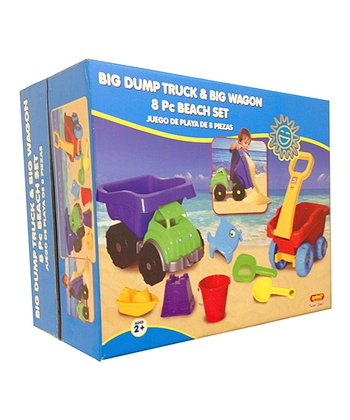 Big Dump Truck & Big Wagon Beach Toy Set