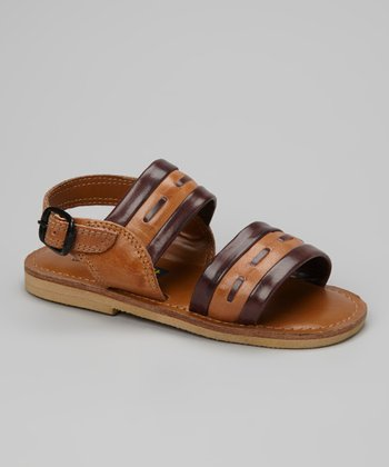 Brown & Navy Sandal