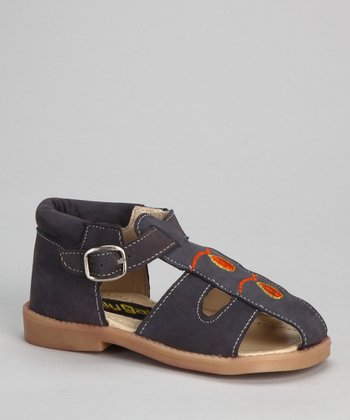 Navy & Red Closed-Toe Sandal
