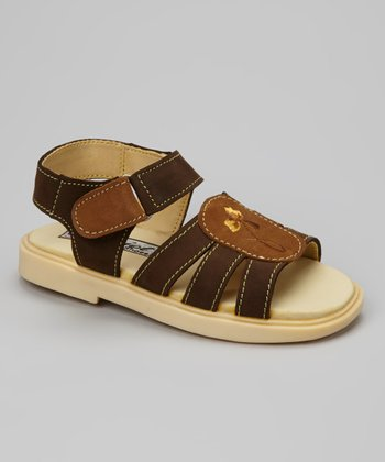 Brown Flower Sandal