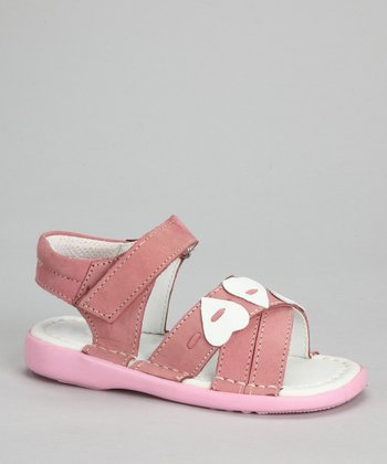 Dark Pink Heart Sandal