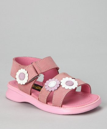 Pink & Purple Flower Sandal