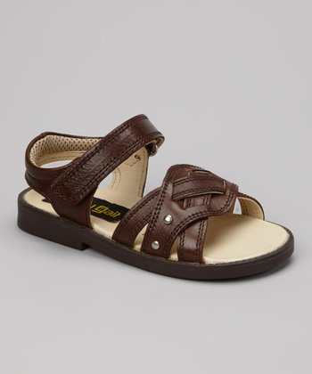 Brown & Tan Stitched Sandal