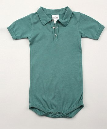 Emerald Green Organic Polo Bodysuit