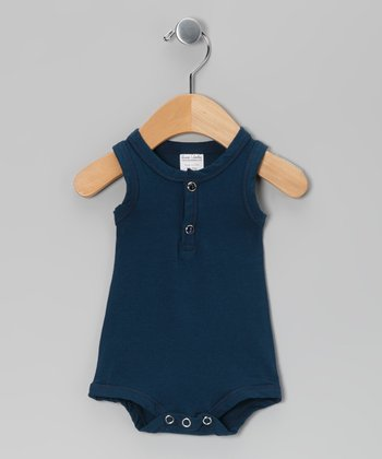 Navy Blue Tank Bodysuit - Infant