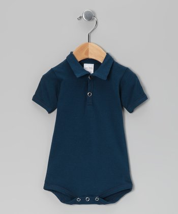 Navy Blue Polo Bodsysuit - Infant