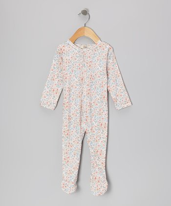 Blue Mia Long Sleeve Footie - Infant