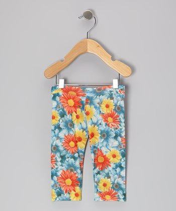 Blue Johanna Leggings - Infant