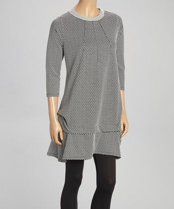 Black & White Polka Dot Tunic - Women & Plus