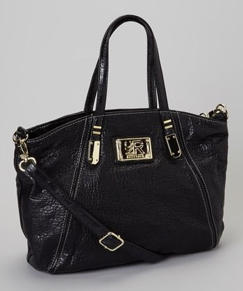 Black Wanderlust Shoulder Bag