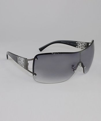 Gunmetal & Smoke Gradient Lens Banded Sunglasses