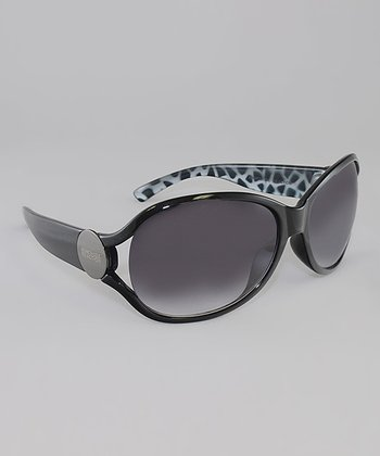 Black & Smoke Gradient Lens Butterfly Sunglasses