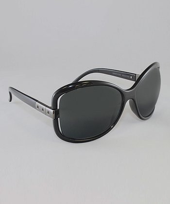 Black & Smoke Bubble Butterfly Sunglasses