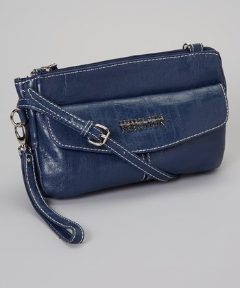 Blue Convertible Shoulder Bag