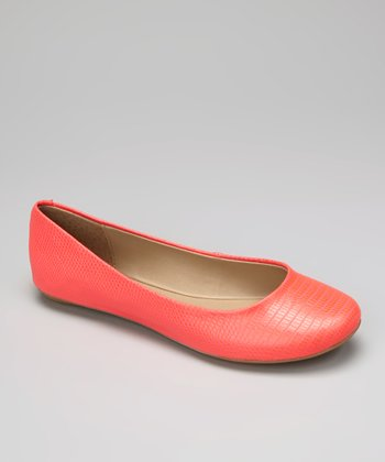 Neon Coral Slip On By Flat