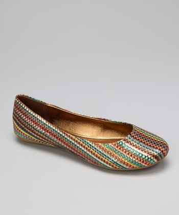 Bronze Stripe Slip On By Flat
