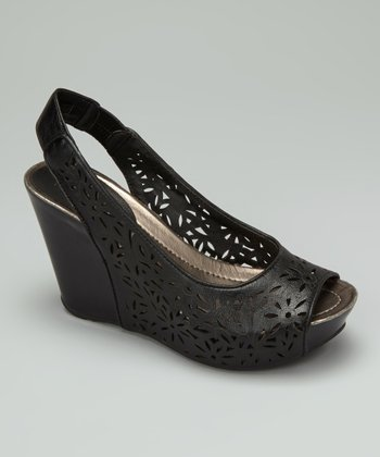 Black Cutout Soley Roller 2 Wedge