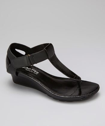 Black Sun Kissed T-Strap Sandal