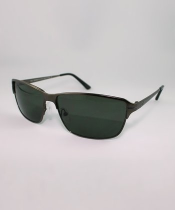 Black Slim Frame Sunglasses
