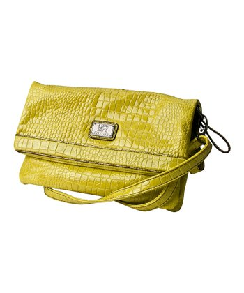 Yellow Crocodile Mercer Crossbody Bag