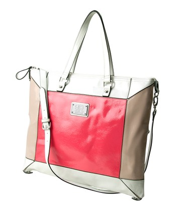 Pink & Brown Convertible Tote