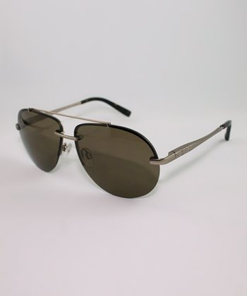 Gold & Brown Lens Pilot Sunglasses