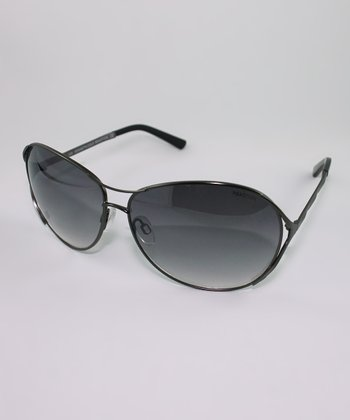 Black Gradient Open Temple Sunglasses