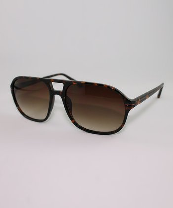 Tortoise Double-Bridge Sunglasses