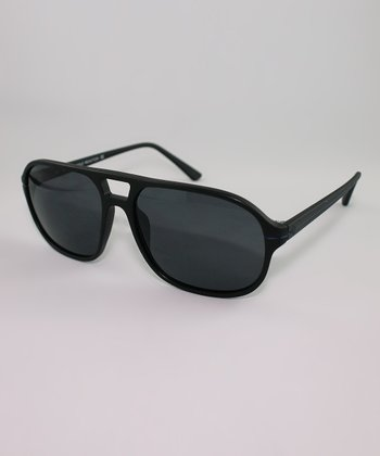Black Double-Bridge Sunglasses
