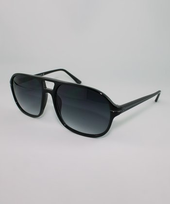 Black Gradient Double-Bridge Sunglasses