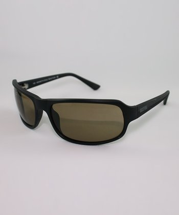 Brown Rectangle Wrap Sunglasses