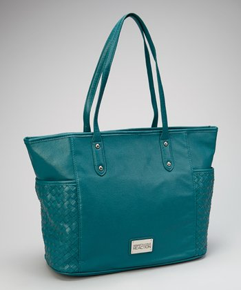 Teal Side-Pocket Tote