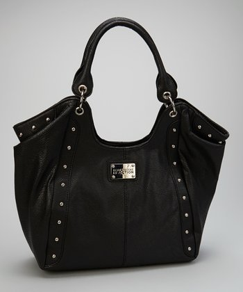 Black Studded Hobo