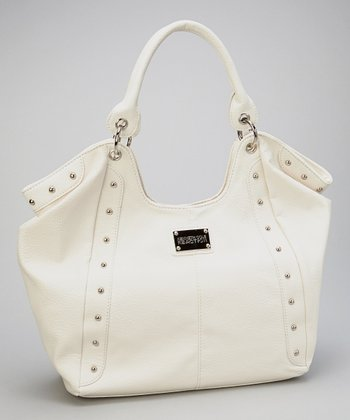 White Studded Hobo