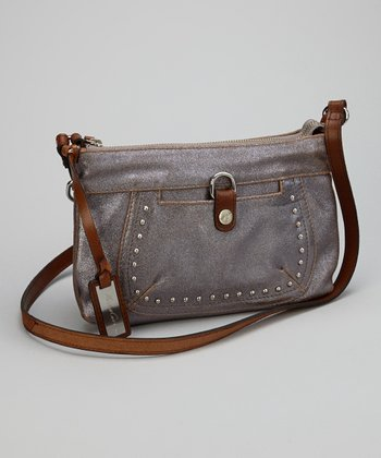 Bronze Studded Crossbody Bag